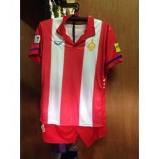 ชุดทีมชาติไทย 100 ปี สีแดงลายขาว เสื้อ+กางเกง