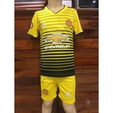 (เด็ก) ชุดทีมแมนเชสเตอร์ ยูไนเต็ด สีเหลือง เสื้อ+กางเกง