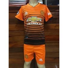 (เด็ก) ชุดทีมแมนเชสเตอร์ ยูไนเต็ด สีส้ม เสื้อ+กางเกง