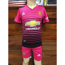 (เด็ก) ชุดทีมแมนเชสเตอร์ ยูไนเต็ด สีชมพู เสื้อ+กางเกง