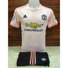 ชุดทีมแมนยู แมนเชสเตอร์ ยูไนเต็ด สีชมพูพาสเทล เสื้อ+กางเกง