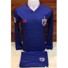 ชุดประตู เสื้อแขนยาว ทีมชาติไทย สีน้ำเงิน เสื้อ+กางเกง
