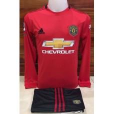 ชุดประตู เสื้อแขนยาว ทีมแมนเชสเตอร์ ยูไนเต็ด สีแดง เสื้อ+กางเกง