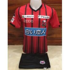 ชุดทีมคอนซาโดล ซัปโปโร สีแดงดำ เสื้อ+กางเกง