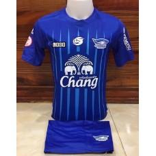 ชุดทีมชลบุรี สีฟ้า เสื้อ+กางเกง