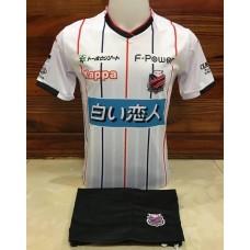 ชุดทีมคอนซาโดล ซัปโปโร สีขาวลายดำ เสื้อ+กางเกง