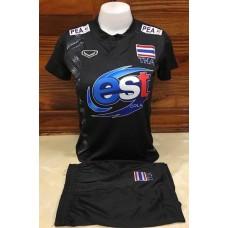 ชุดบอลเล่บอลทีมชาติไทย สีดำ เสื้อ+กางเกง