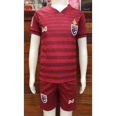 (เด็ก) ชุดทีมชาติไทย สีแดง 2019 เสื้อ+กางเกง