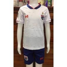 (เด็ก) ชุดทีมชาติไทย สีขาว ปี 2019 เสื้อ+กางเกง