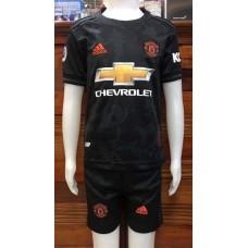 (เด็ก) ชุดทีมแมนเชสเตอร์ ยูไนเต็ด สีดำ เสื้อ+กางเกง