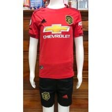 (เด็ก) ชุดทีมแมนเชสเตอร์ ยูไนเต็ด สีแดง เสื้อ+กางเกง