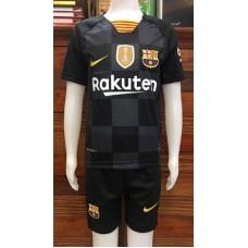(เด็ก) ชุดทีมบาร์เซโลน่า สีดำ เสื้อ+กางเกง
