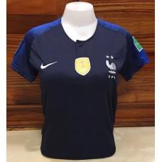 เสื้อกีฬาสำหรับผู้หญิงทีมชาติฝรั่งเศส สีกรมท่า