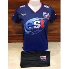 ชุดบอลเล่บอลทีมชาติไทย สีน้ำเงิน เสื้อ+กางเกง