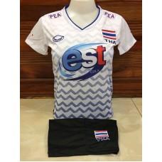 ชุดบอลเล่บอลทีมชาติไทย สีขาว เสื้อ+กางเกง