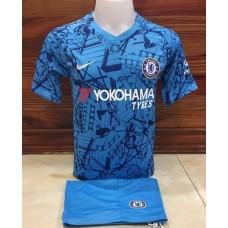 ชุดทีมเชลซี สีฟ้า เสื้อ+กางเกง