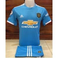 ชุดทีมแมนยูแมนเชสเตอร์ ยูไนเต็ด สีฟ้า เสื้อ+กางเกง