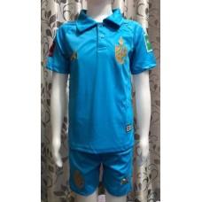 (เด็ก) ชุดทีมชาติไทย สีฟ้า 2020 เสื้อ+กางเกง
