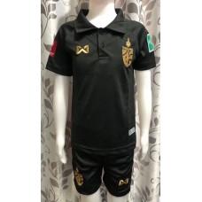 (เด็ก) ชุดทีมชาติไทย สีดำ 2020 เสื้อ+กางเกง