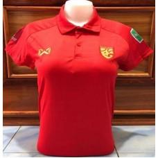 เสื้อกีฬาสำหรับผู้หญิงทีมชาติไทย สีแดง ปี 2020