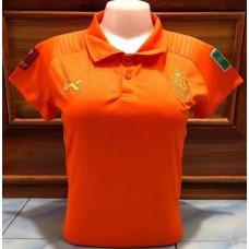 เสื้อกีฬาสำหรับผู้หญิงทีมชาติไทย สีส้ม 2020